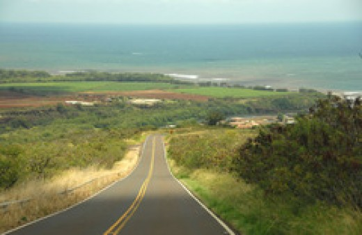 Driving to Waimea Bay