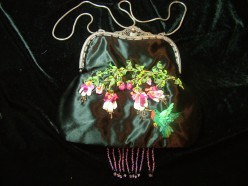Handmade Purses with silk ribbon embroidery and beading