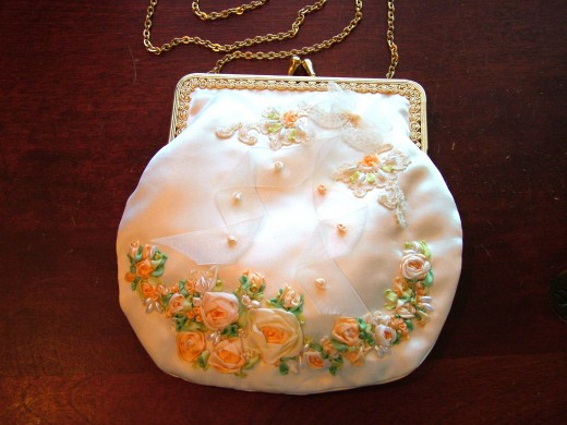 This was my wedding purse and the first one i ever made :)