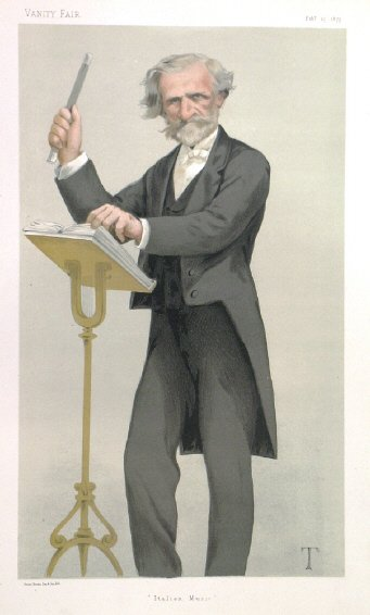 Giussepe Verdi, 1879 portrait in Vanity Fair
