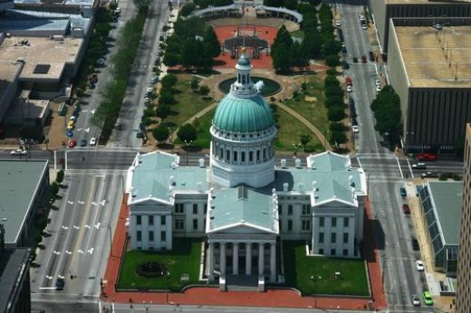The Old Courthouse in St Louis Missouri is said to have many strange paranormal things going on though the U.S. Park Service denies the paranormal activity.