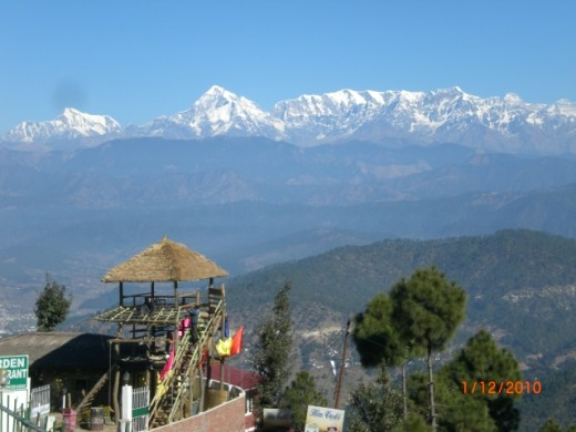 Another shot from a hotel's terrace in Kausani