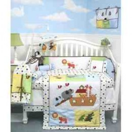 Noah Ark Baby - Baby Crib Bedding Set comes with these 10 pieces...