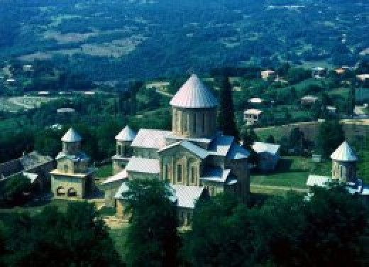 The Gelati Monastery/Academy, a UNESCO World Heritage Site in Kutaisi, Georgia. The city may have been the destination of Jason and his argonauts.