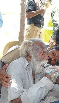 Poor ill person