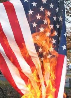 Burning The American Flag - Is It Illegal to Light Up Red White and Blue