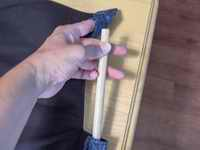 slide the wooden dowel in. If you want to paint the dowel first then do that, just make sure it's dry before you use it.