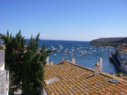 View of the boats on the bay
