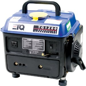 ETQ TG1200 1,200 Watt 2 HP 2-Cycle Gas Powered Portable Generator