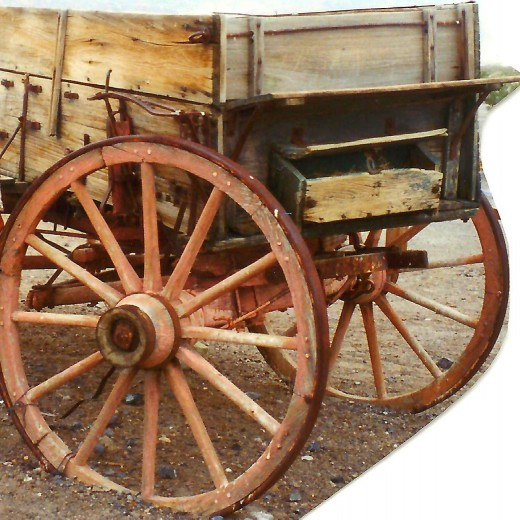 Old wagon in Death Valley
