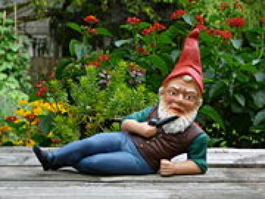 Don't be deceived by a relaxed pose. This gnome obviously has attitude.