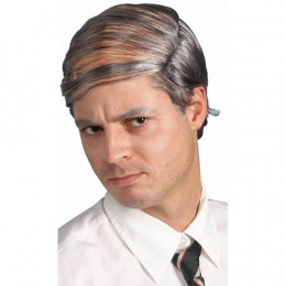 For those who have too much hair, the timeless comb-over style can still be achieved with a subtle acrylic wig.