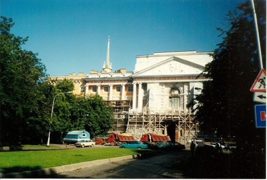 Mihajlov Palace in St. Petersburg, Russia.  Palace was home of the Emperor Paul I of Russia