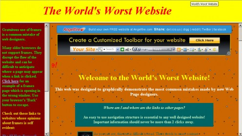 unprofessional website designers