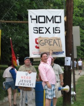 A counter-move triggered by the typical anti-gay hysteria.