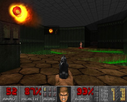 Doom and other classic 1st person shooters has been enhanced