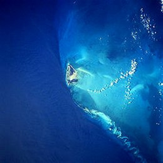 Bimini as seen from space.