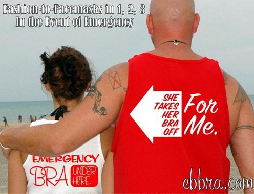 Emergency Bra Tshirt and Funny Word