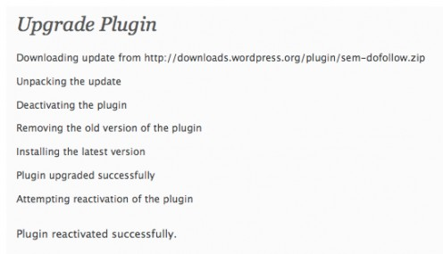 Diagram 3.  Plugin being updated - Messages