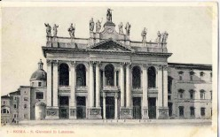 The late Baroque faade of the Basilica of St. John Lateran was completed by Alessandro Galilei in 1735 after winning a competition for the design. (Wikipedia)