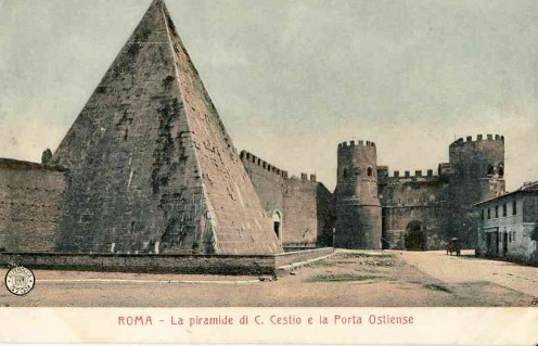 The Pyramic of Cestius and the Porta San Paolo