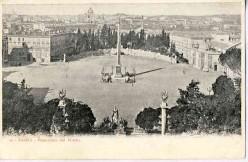 Panorama from the Pincio: The Piazza del Popolo.
