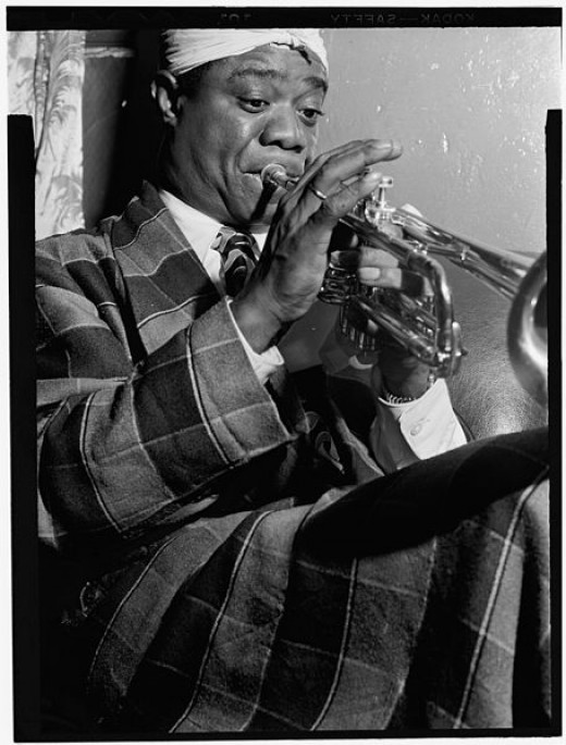 William P. Gottlieb's photo of Louis Armstrong in July of 1946.