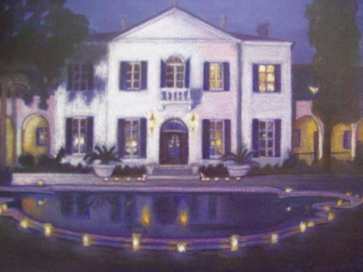The Crane House -- Commissioned Pastel Drawing