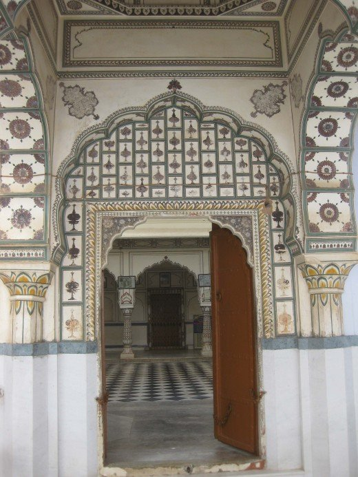 Main gate of Amber Jain temple, Jaipur