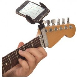 Guitar Sidekick holds iPhone and Media Devices at any Angle