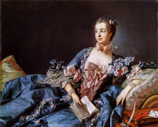 Another portrait of Madame de Pompadour (Francois Boucher).