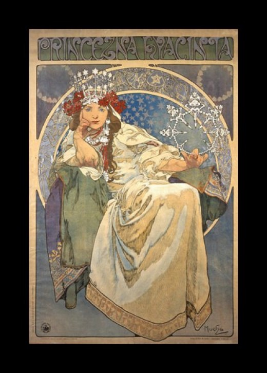 """Princess Hyacinth"" by Alfons Mucha."
