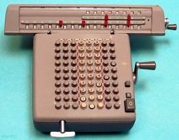 A mechanical calculator - used during the mid to late 1800s and early to mid 1900s.