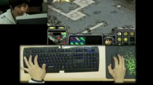 Korean APM Demonstration from a documentary Notice the Razer Keyboard, Mouse and Mousepad as he hits 250ish APM!