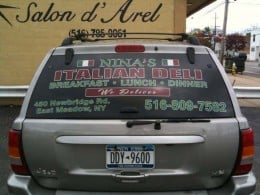 Car Stickers to advertise your business on the cheap.