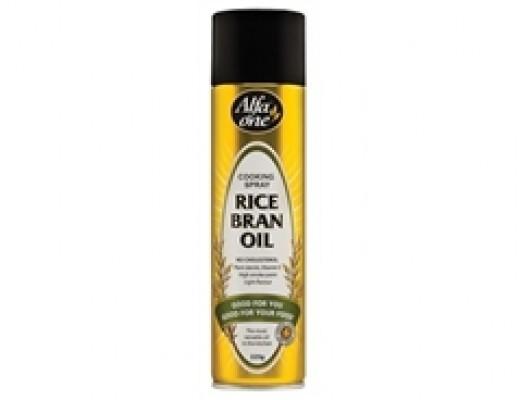 Ingredients: Rice Bran Oil (75%), Butane, Propane.