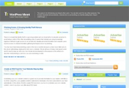 Vibrant Wordpress Theme