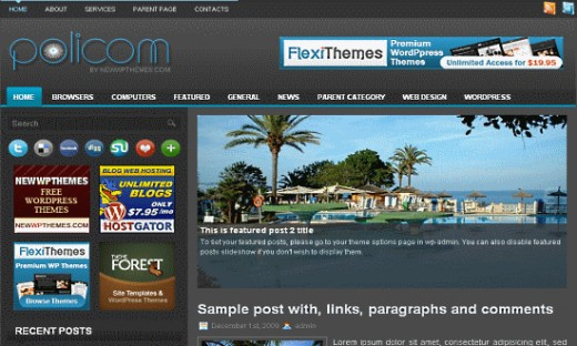 Policom Wordpress Theme