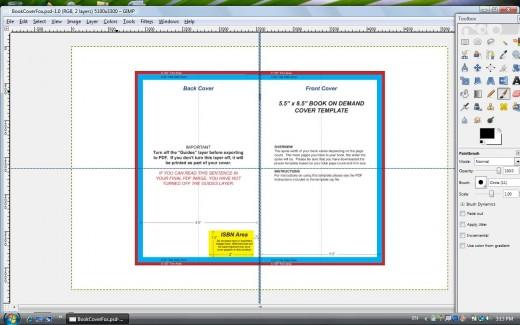 Book Cover Template Gimp ~ How to make a createspace cover using gimp