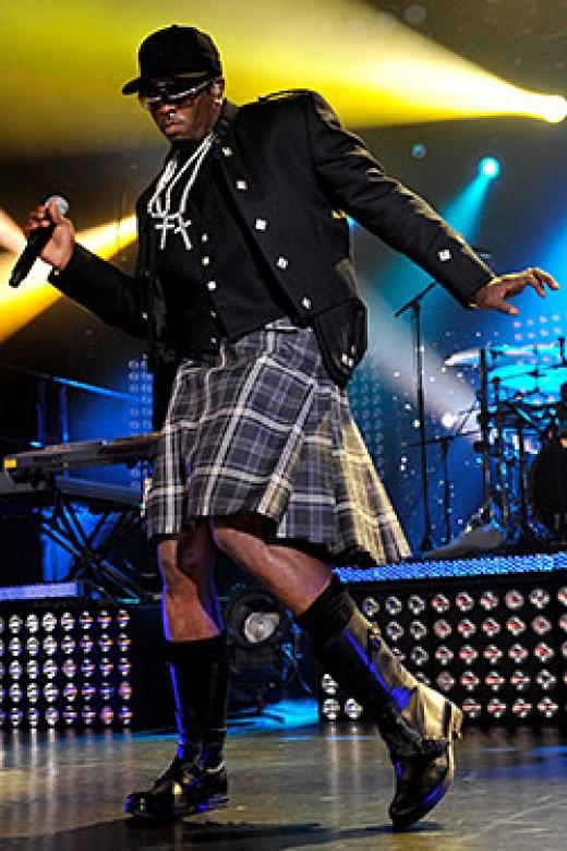P Diddy wears a kilt like a boss.