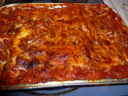 The second lasagna ready to go in my freezer.