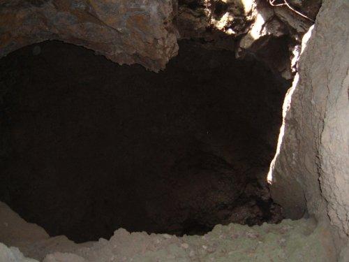 A deep pit