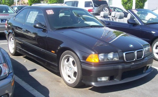The BMW E36 More modern treatemt for the headlights and grill.
