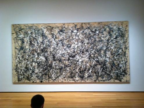Jackson Pollack's huge drip painting was created on the floor.