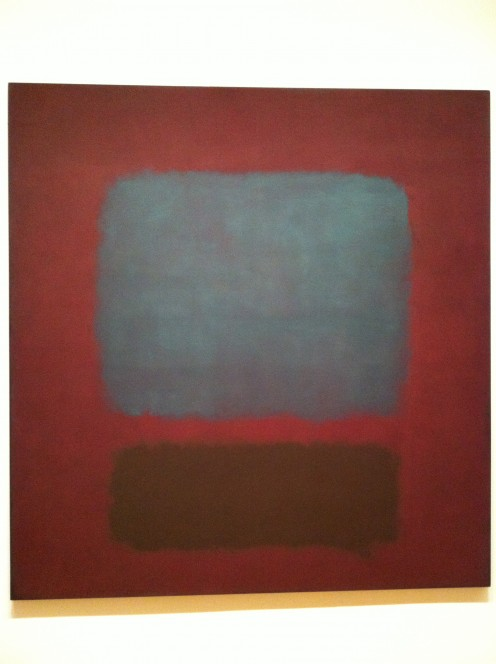 In one big room with nothing but Rothko