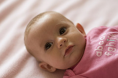 Choosing the right time is important while taking baby portraits.