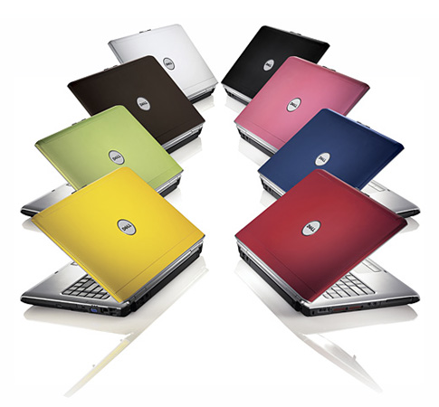 Dell Inspiron offering consumers personalization with different color laptops.