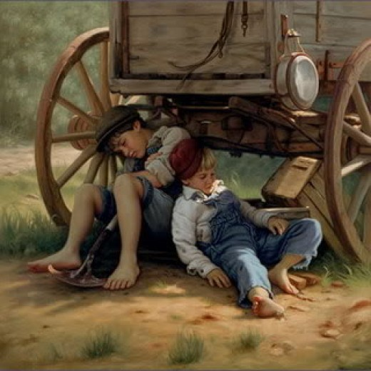 Chuck wagons were the cowhand's kitchen. A nap after breakfast