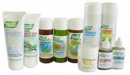 Herbal skin products