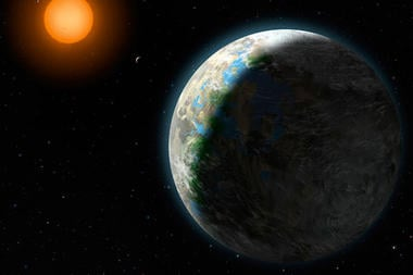 Gliese581a is a Dwarf star, not as bright as our Sun.